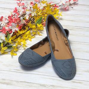 Lucky Brand Blue Woven Ballet Shoes Flats